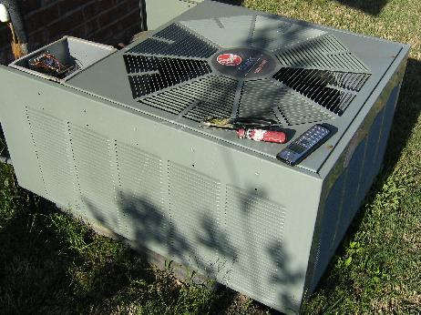 Rheem heat pump air conditioner how to change your for Ac unit condenser fan motor
